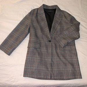 ZARA plaid blazer jacket